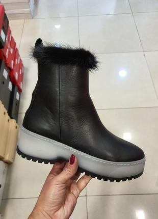 Зимние кожаные ботинки, турция