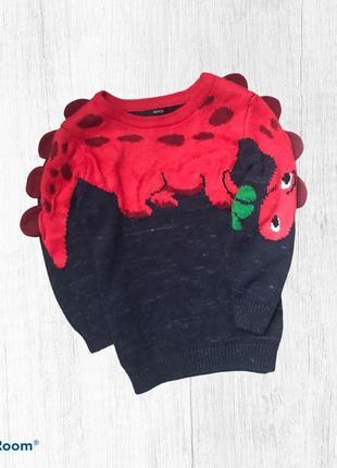 George свитер нарядный динозавры 3-4 г. 98-104 см
