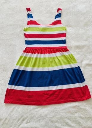 Платье летнее в цветную полоску house