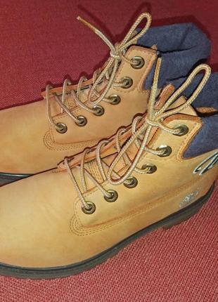Timberland - отличные демисезонные ботинки из натуральной кожи  известного америк. бренда