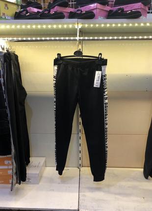 Черные сп брюки на манжете
