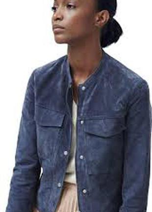 Супер! замшевая куртка mahgo шикарный цвет! 44-46 размер новая коллекция