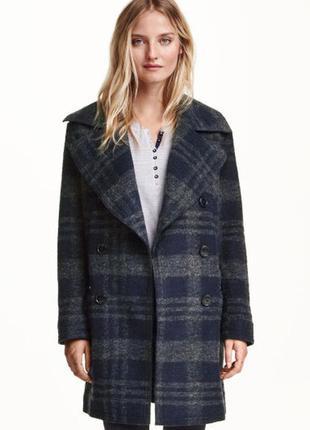 Пальто h&m нат шерсть! новая модель! 46-50р. бойфренд хит осень- 2017!
