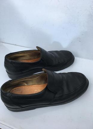 Чёрные кожаные немецкие туфли натуральные easy walking