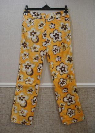 Летние прямые брюки с принтом