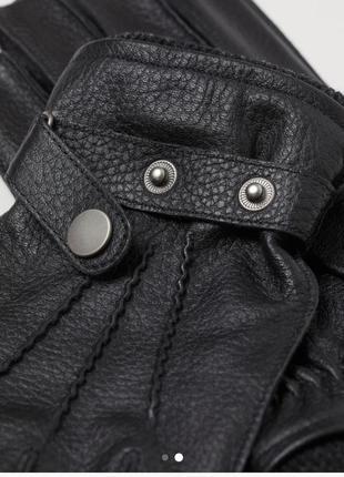 Перчатки из мягкой кожи premium quality h&m