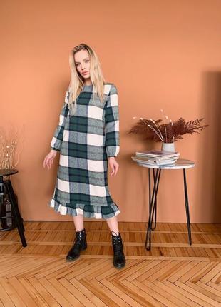 Платье тёплое длинное кашемир