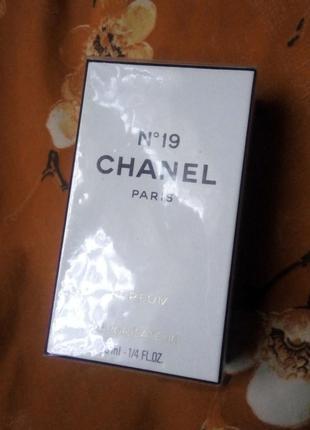 Chanel 19 духи винтаж, 7.5 мл в слюде, спрей в кофре