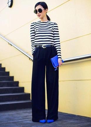 Широкие брюки с высокой посадкой laura scott, размер л