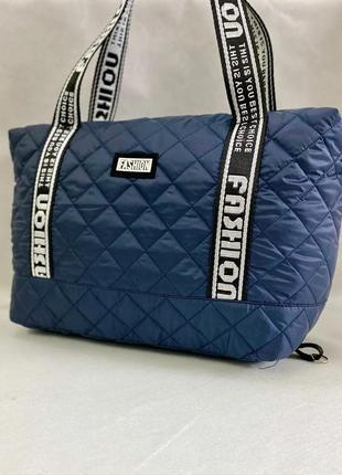 Стеганая сумка из плотной болоньи, новая женская сумочка