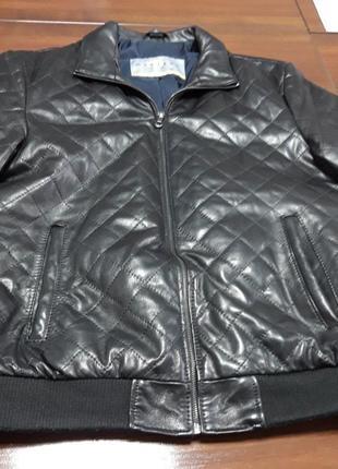 Шкіряна чоловіча куртка 54р.