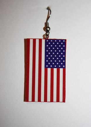 Серьги с американским флагом