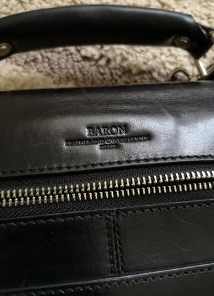 Фірмовий портфель baron. шкіра