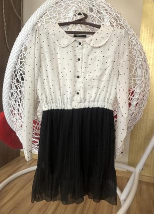 Гарне стильне  плаття  в горох