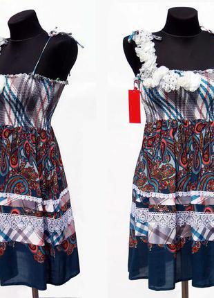 Дешево. классное платье сарафан. шикарный принт. размеры s, м-l. новое