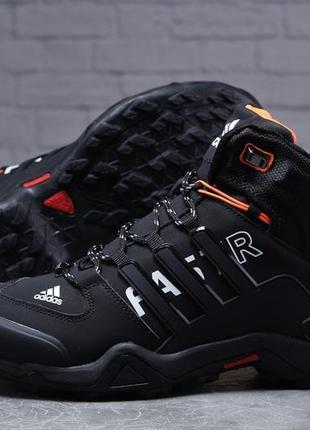 Зимние мужские кроссовки 31784 ► adidas terrex gore tex, черные