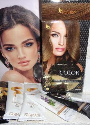"""Гель-краска для волос ultra color """"капучино"""" от farmasi (ecofusion)"""