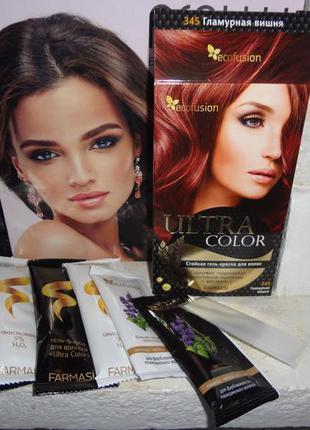 """Гель-краска для волос ultra color"""" гламурная вишня"""" от farmasi (ecofusion)"""