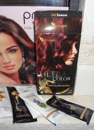 """Гель-краска для волос ultra color """"божоле"""" от farmasi (ecofusion)"""