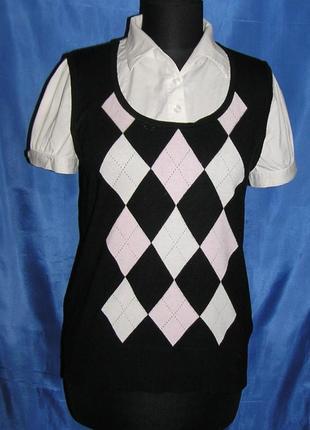 Распродажа=стильная блузка-жилетка=marks&spencer=
