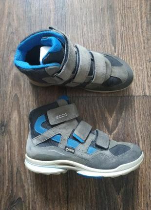 Ботинки ecco на липучках,термо ботинки, деми 32р