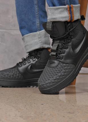 Зимние мужские ботинки 31831 ► nike lf1 duckboot (top aaa), черные