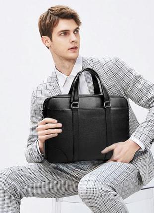 Сумка-портфель мужская кожаная деловая tiding bag