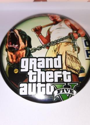 Значок круглый из игры grand theft auto 5 gta гта