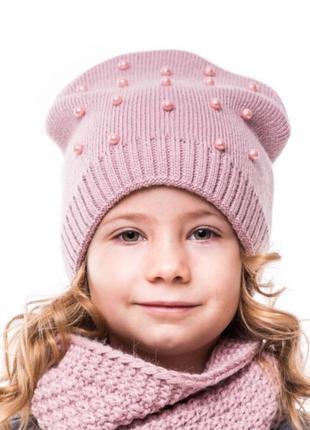Зимняя шапка на девочку 1,5-5 лет
