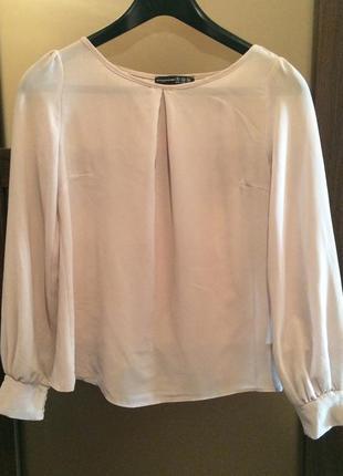 Шифоновая серенькая блуза