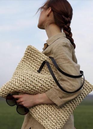 Пляжная сумка шопер
