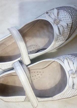 Кожаные ортопедические туфли