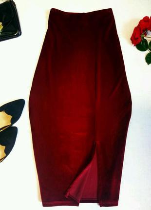 Очень красивая модная юбка карандаш велюр