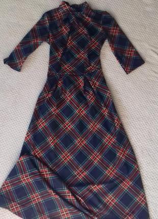Тёплое платье в пол