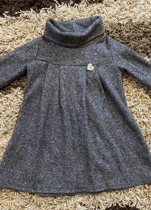 Тёплые платья на девочку