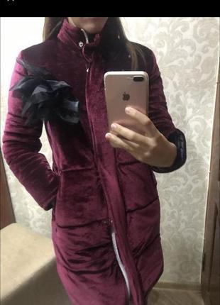 Пальто пуховик курточка зима