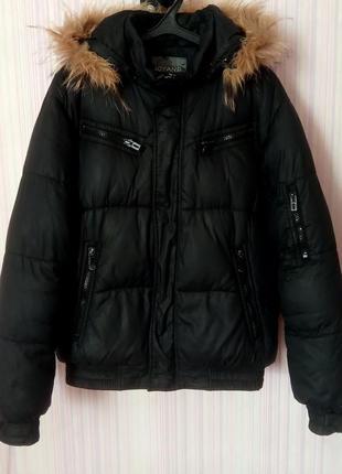 Куртка мужская зимняя очень теплая, капюшон и мєх отстегивается