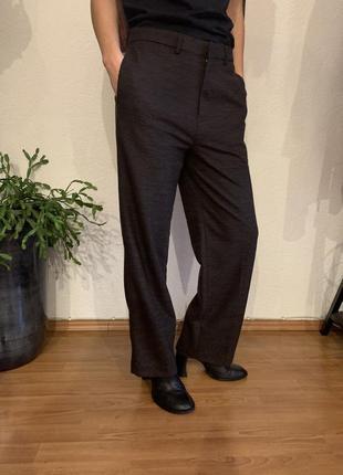 H&m studio шерстяные брюки укороченная модель