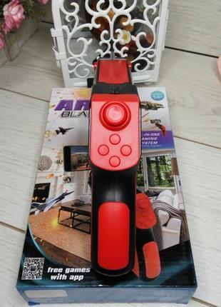 Детский пистолет виртуальной реальности ar blaster, красный c кнопками навигации (pv-500)