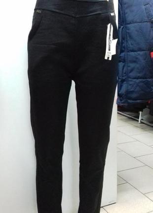 Женские стрейчевые штаны - лосины на флисе т - 2373  размер:3xl,4xl,5xl.