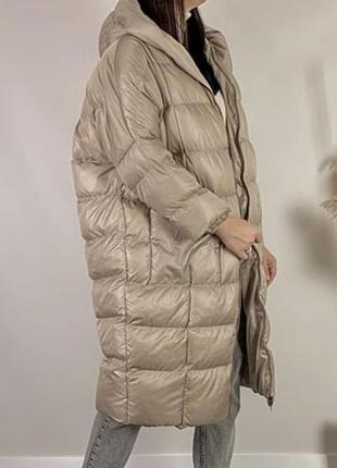 Пальто пуховик одеяло оверсайз