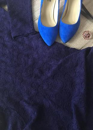 Платье free people темно-синего цвета