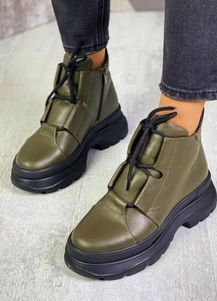 Ботинки хаки