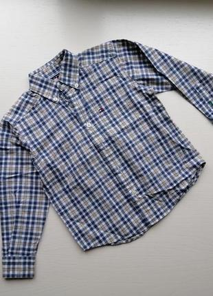 Рубашка в клеточку для мальчика 3 года