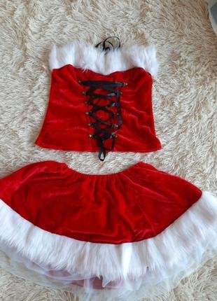 Новогодний костюм, комплект. новорiчний наряд.  семейный лук