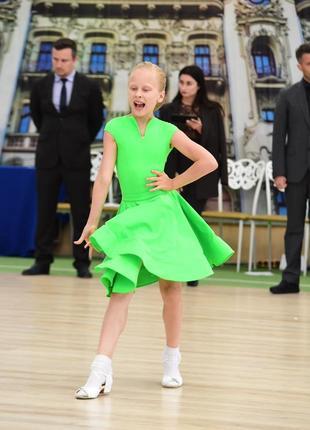 Платье для бальных танцев, категория ювеналы, на рост 134-140