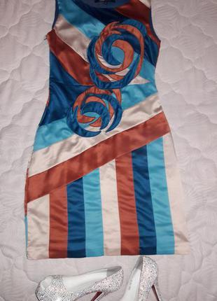 Невероятное шелковое платье из натурального шелка, итальянского бренда