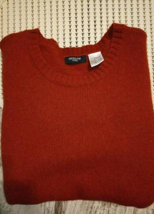 Свитер джемпер кофта пуловер бадлон кирпичный нашивка l