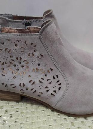 Замшевые туфли ботинки tamaris