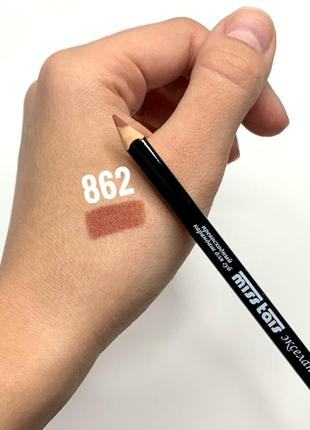 Карандаш для губ miss tais №862 natural с аппликатором матовый коричневый мисс таис